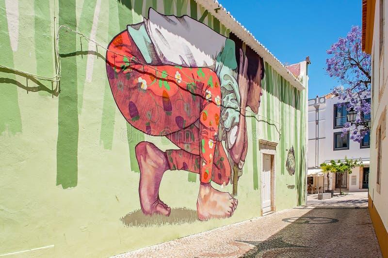 Искусство Лагос улицы, Португалия стоковое изображение rf