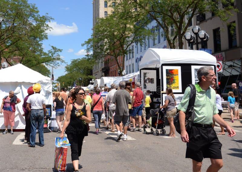 Искусство лета Ann Arbor справедливое стоковая фотография