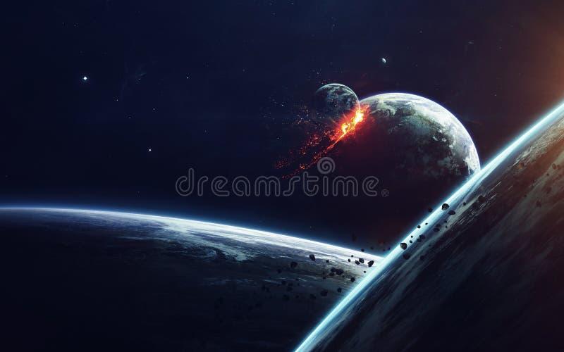 Искусство научной фантастики Красота глубокого космоса Элементы этого изображения поставленные NASA стоковые фотографии rf