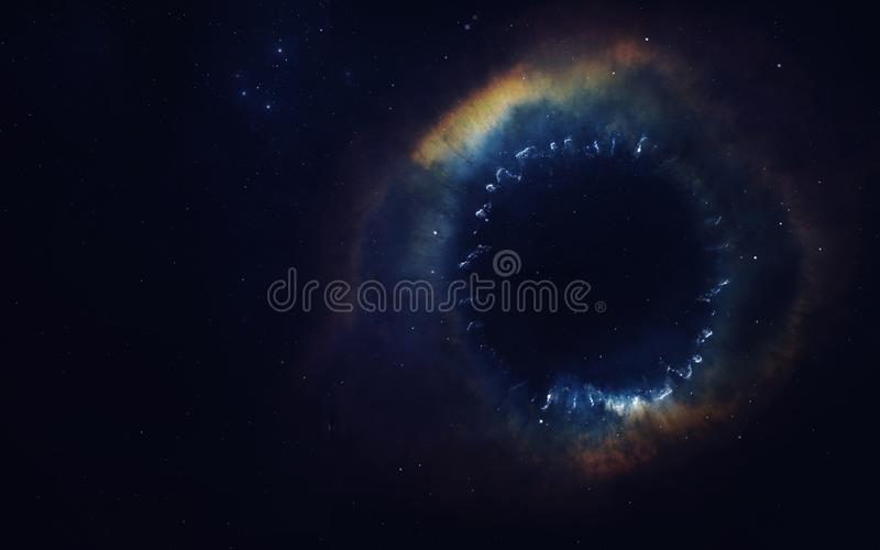 Искусство научной фантастики Красота глубокого космоса Элементы этого изображения поставленные NASA стоковое изображение