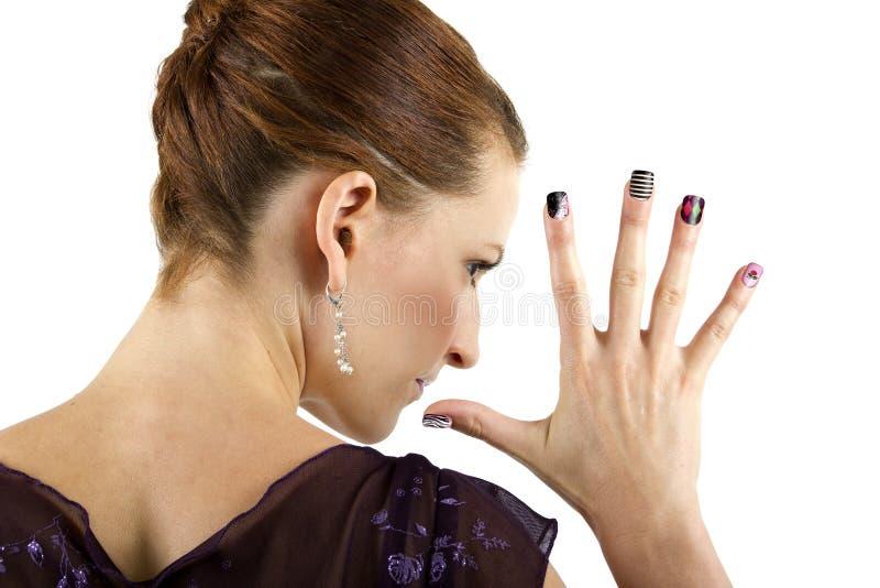 Искусство ногтя стоковое фото