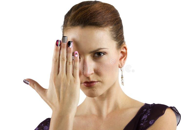Искусство ногтя стоковые изображения
