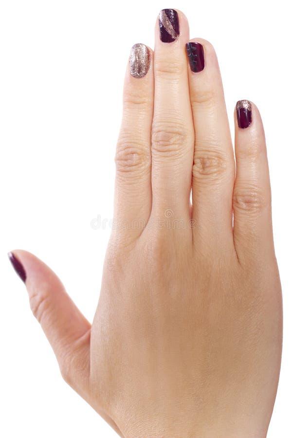 Искусство ногтя стоковое изображение