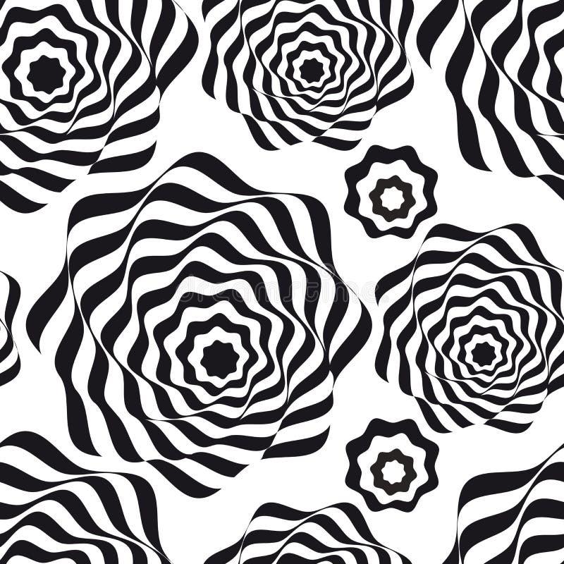 искусство оптически белизна черной картины безшовная стоковое изображение rf