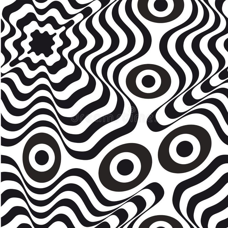 искусство оптически белизна черной картины безшовная стоковые фото