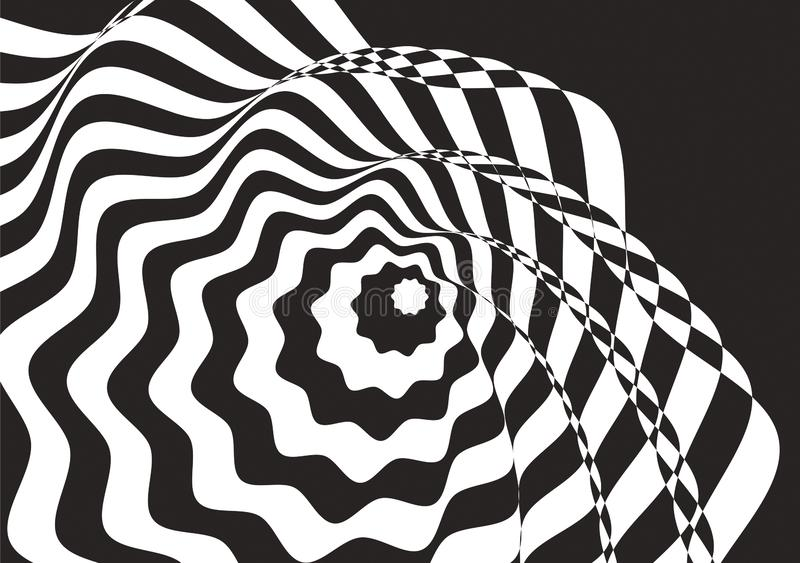 искусство оптически Черно-белое bachground стоковые фотографии rf