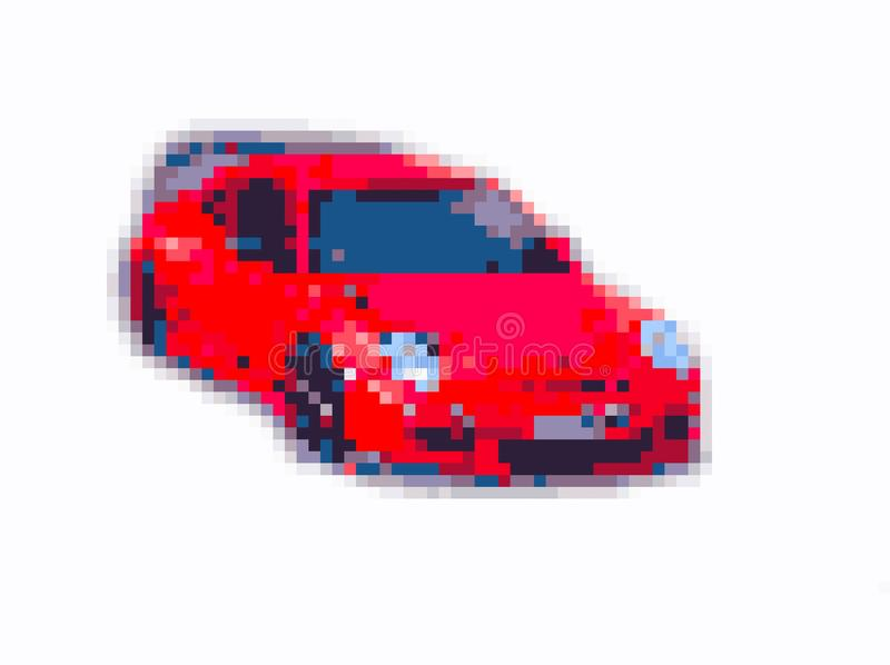 Искусство пиксела бита спортивной машины 8 иллюстрация вектора