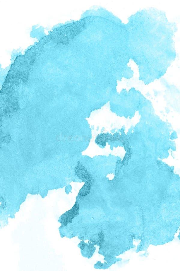 искусство Предпосылка краски акварели голубая красивейшая планета стоковые изображения rf