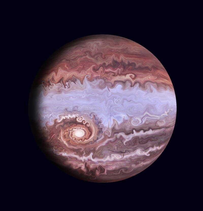 Искусство планета, представляя Юпитер бесплатная иллюстрация