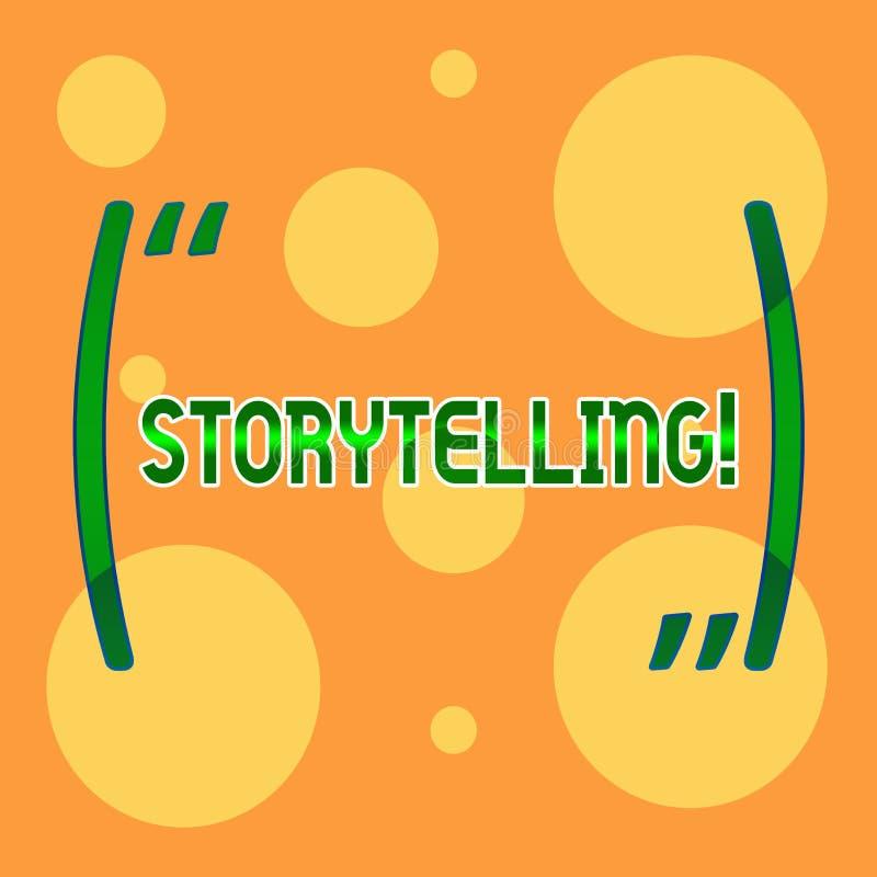 Искусство рассказа показа знака текста Схематическая деятельность при фото говорить или записи романы рассказов к кто-то различно иллюстрация вектора