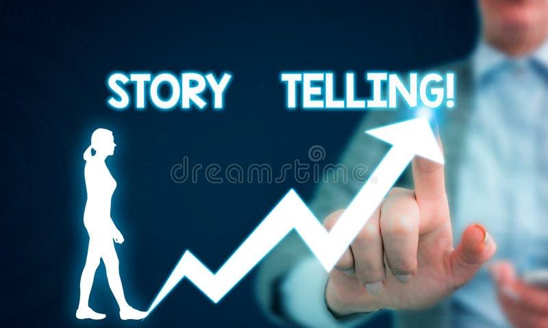 Искусство рассказа показа знака текста Схематическая деятельность при фото писать рассказы для опубликовывать их в общественный ж стоковые фото