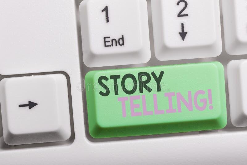 Искусство рассказа показа знака текста Схематическая деятельность при фото писать рассказы для опубликовывать их в общественный б стоковое изображение rf