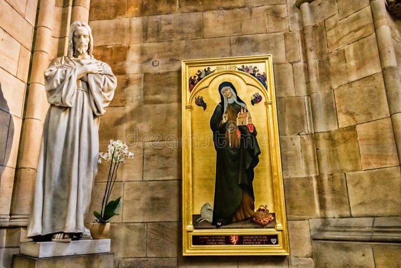 Искусство собора Vitus Святого стоковое изображение