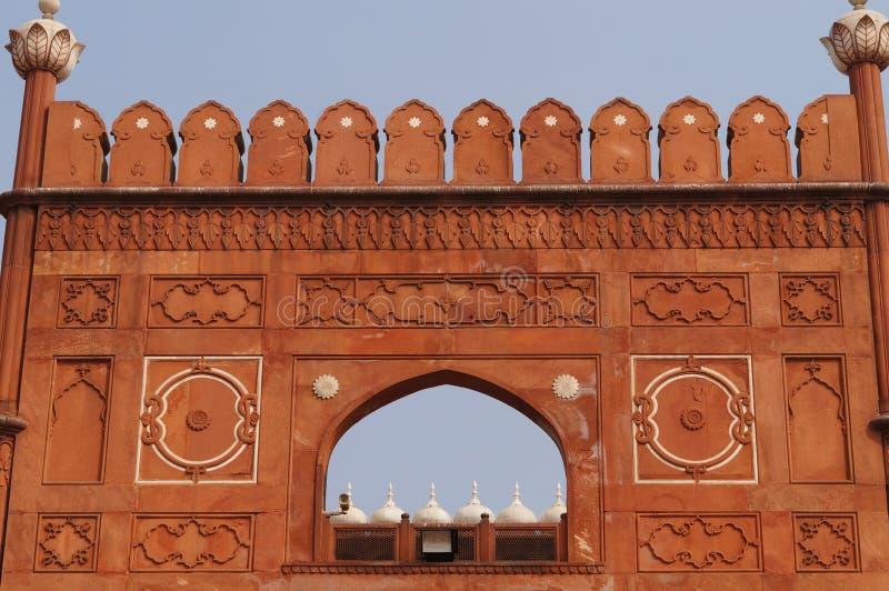 Искусство стены мечети Badshahi в Лахоре стоковые фотографии rf