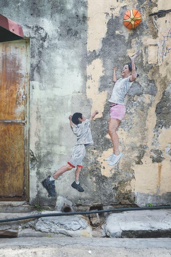 Искусство стены улицы Penang стоковые фото