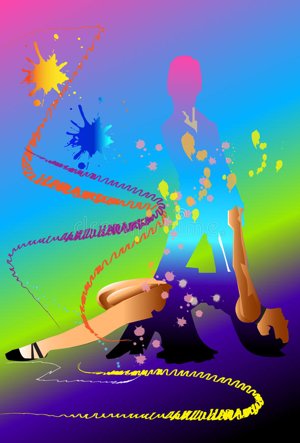 Искусство танцульки бесплатная иллюстрация