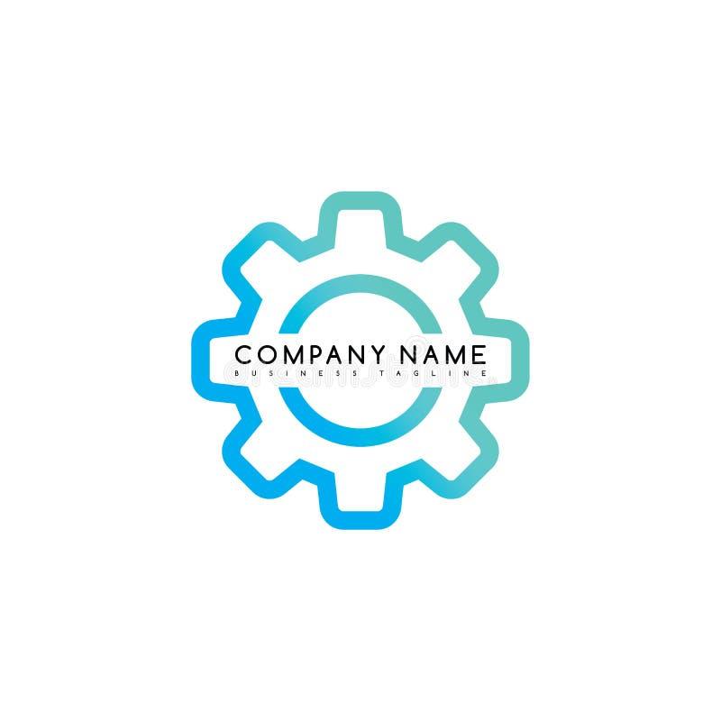 искусство темы логотипа логотипа шаблона бренда установки cog иллюстрация вектора
