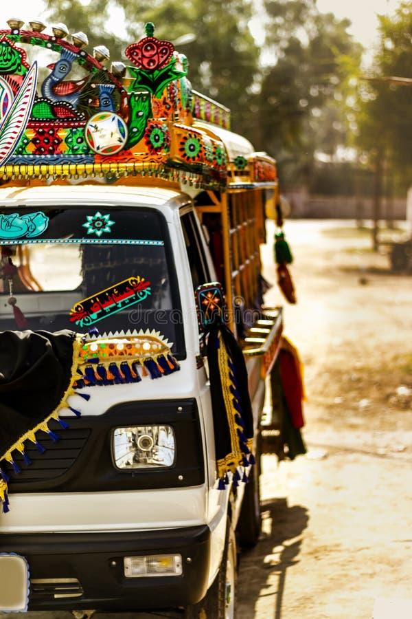 Искусство тележки - Khairpur, Синд, Пакистан стоковые фотографии rf