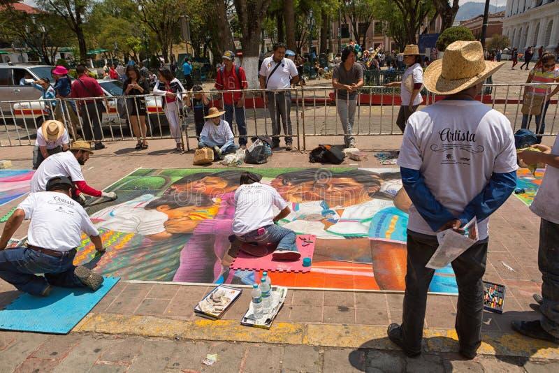 Искусство улицы в San Cristobal de Las Casas Мексике стоковое фото