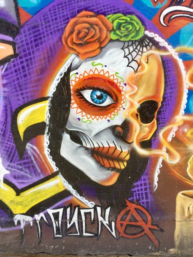 Искусство улицы граффити в Геррере Мексике стоковое изображение