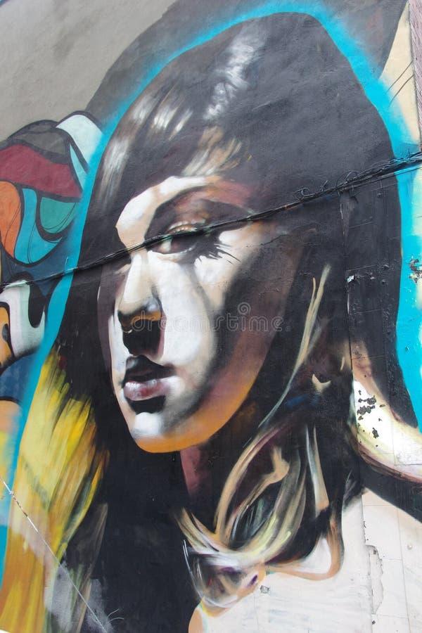 Искусство улицы на стене здания стоковое изображение rf