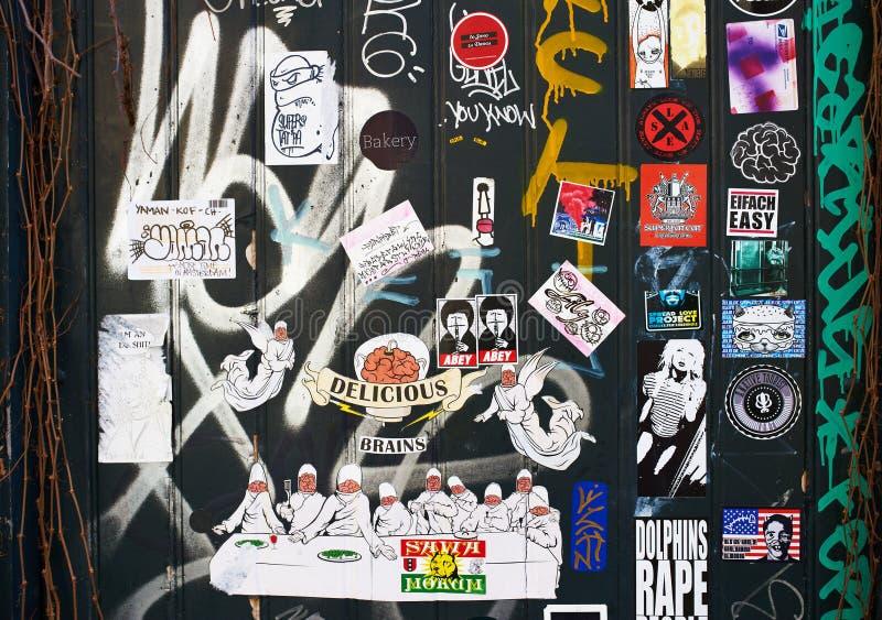 Искусство улицы в Амстердаме стоковое изображение rf