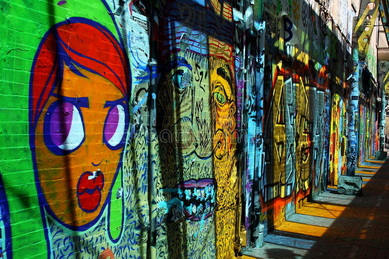 Искусство улицы в городе Бостона стоковое изображение
