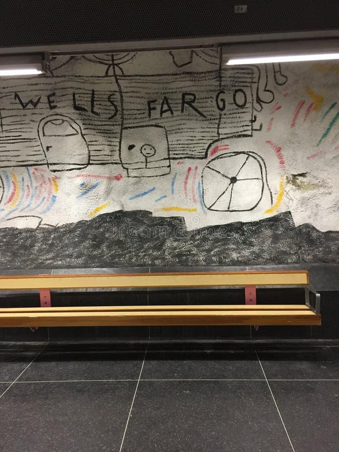 Искусство улицы в Стокгольме стоковое изображение rf