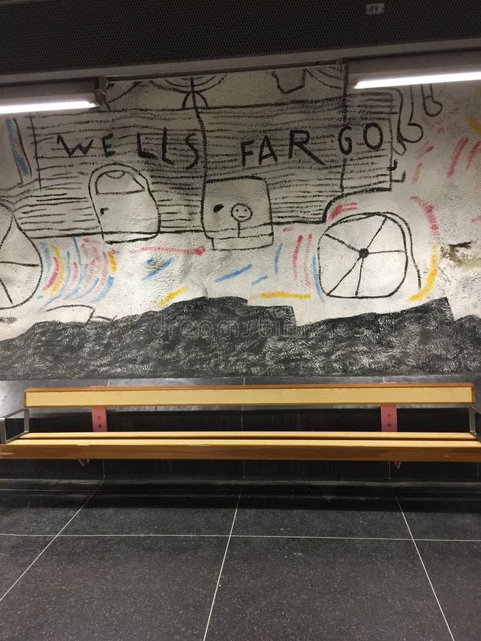 Искусство улицы в Стокгольме стоковые фотографии rf