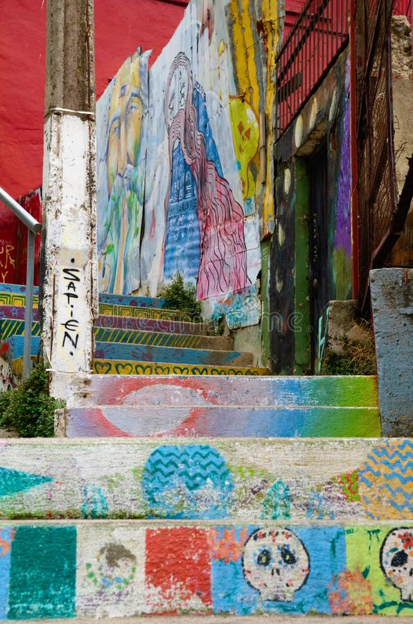 Искусство улицы в ValparaÃso стоковая фотография rf