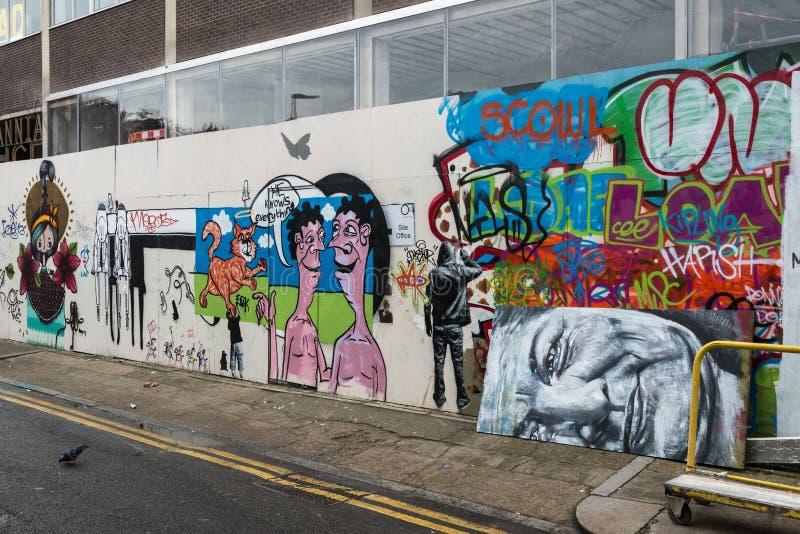 Искусство улицы граффити Лондона стоковое изображение