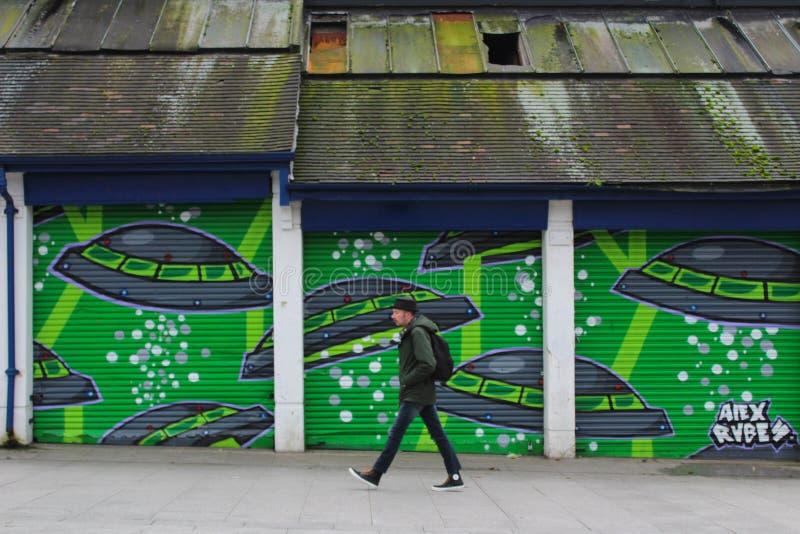 Искусство улицы граффити стоковая фотография
