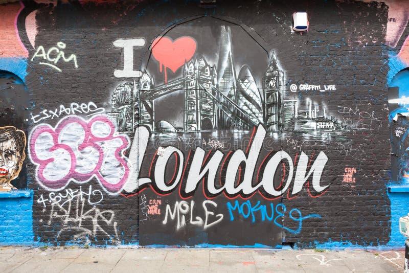 Искусство улицы Лондона стоковое фото