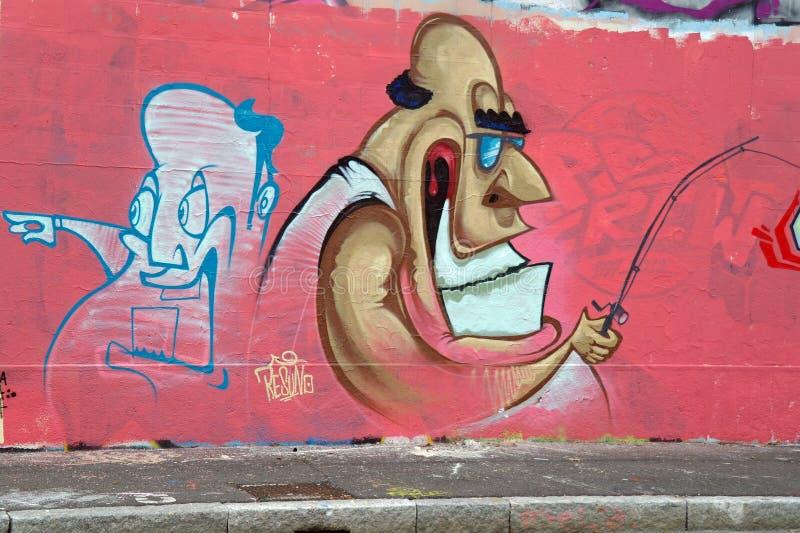 Искусство улицы Мюнхена, Германии стоковые изображения