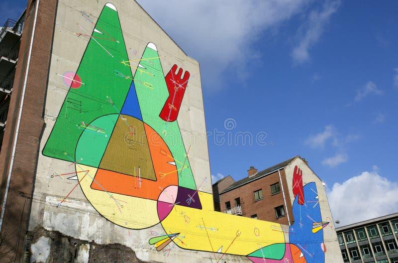 Искусство улицы, Шарлеруа, Бельгия стоковое изображение rf