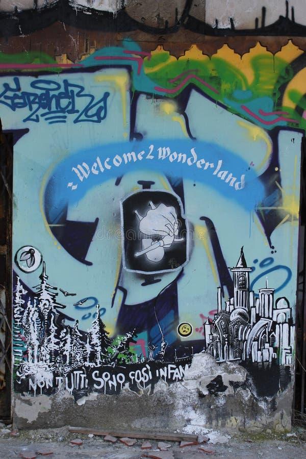 Искусство улицы murales Consonno стоковая фотография rf