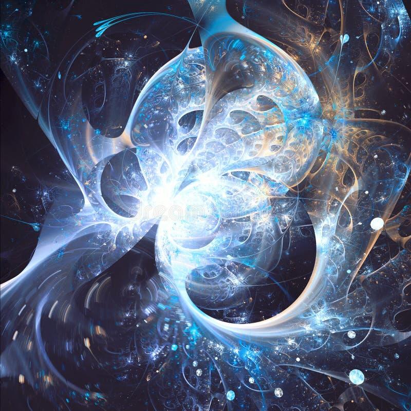 Искусство фрактали разделения чужеземца голубое эллиптическое стоковое изображение rf