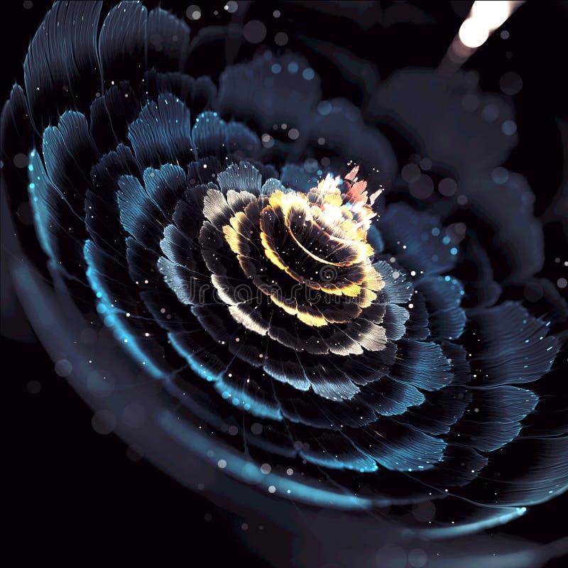 Искусство фрактали цветеня цветка светлое стоковое фото rf