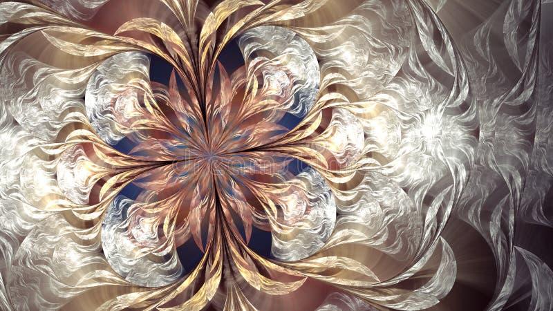 Искусство фрактали Argus облака иллюстрация штока