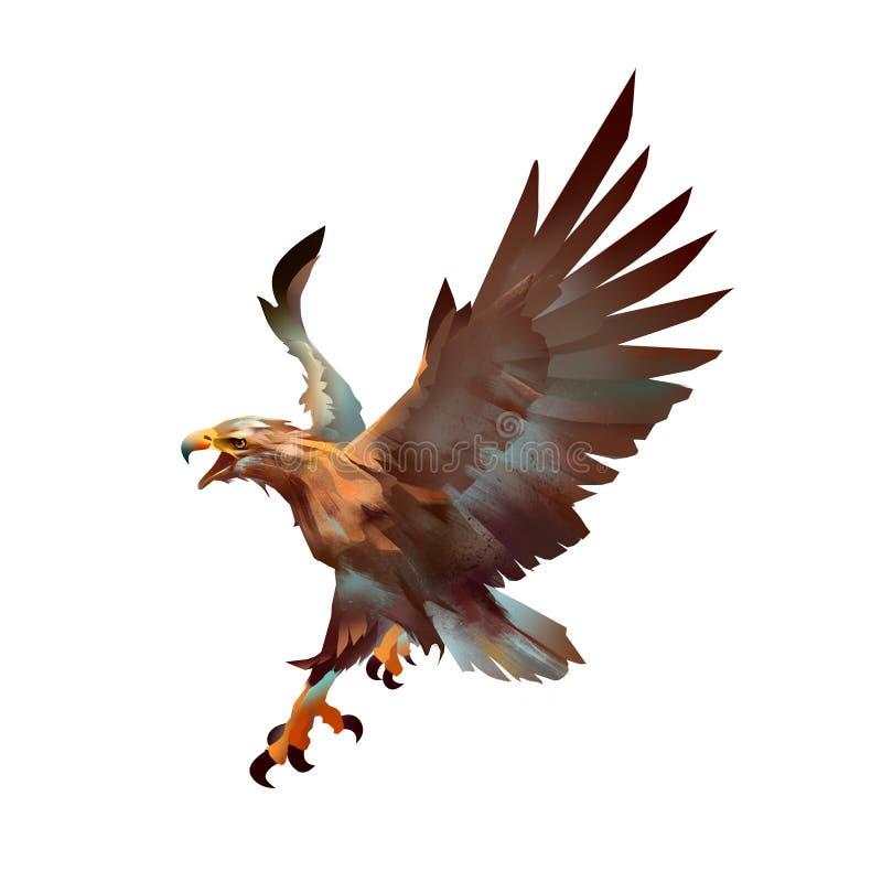 Искусство цвета нападения орла стоковое фото rf