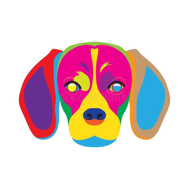 Download Искусство цвета собаки бигля Иллюстрация вектора - иллюстрации насчитывающей вектор, картина: 81813481