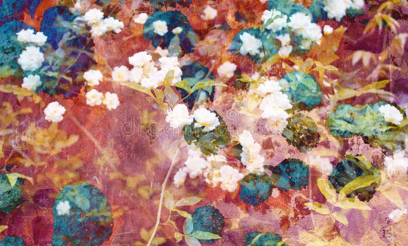 Искусство цифров романтичной картины флористических/цветка стоковые изображения
