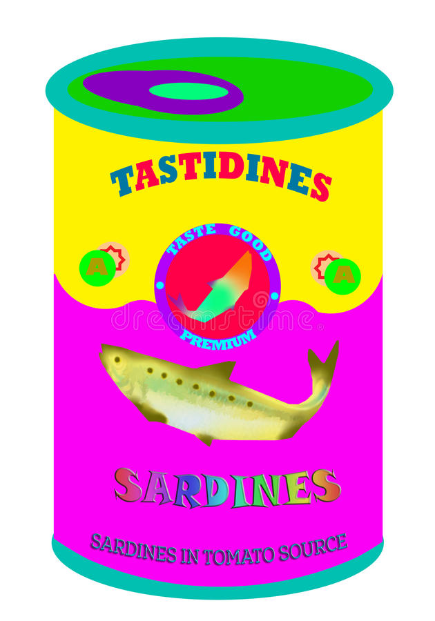 Искусство шипучки сардин стоковое фото rf