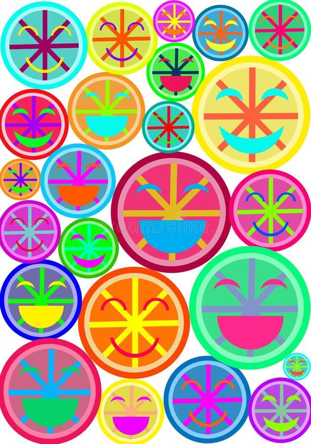 Искусство шипучки Smiley стоковое изображение rf