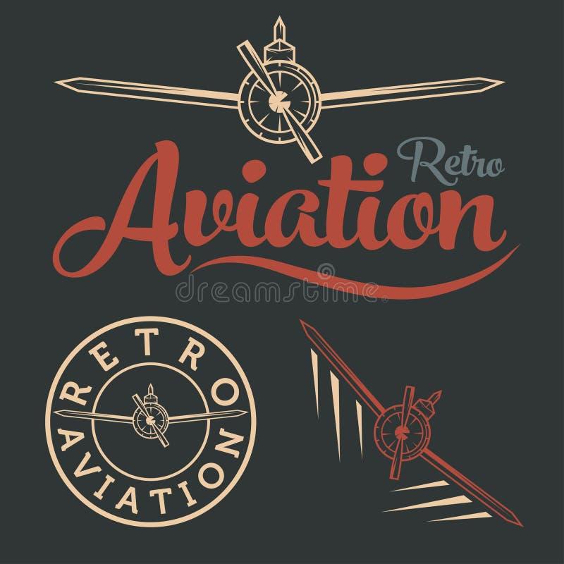 искусство ярлыка авиации бесплатная иллюстрация