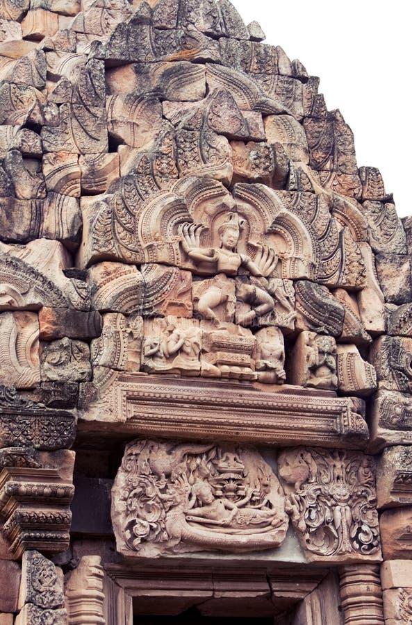 Искусство Khmer на камне стоковые изображения rf