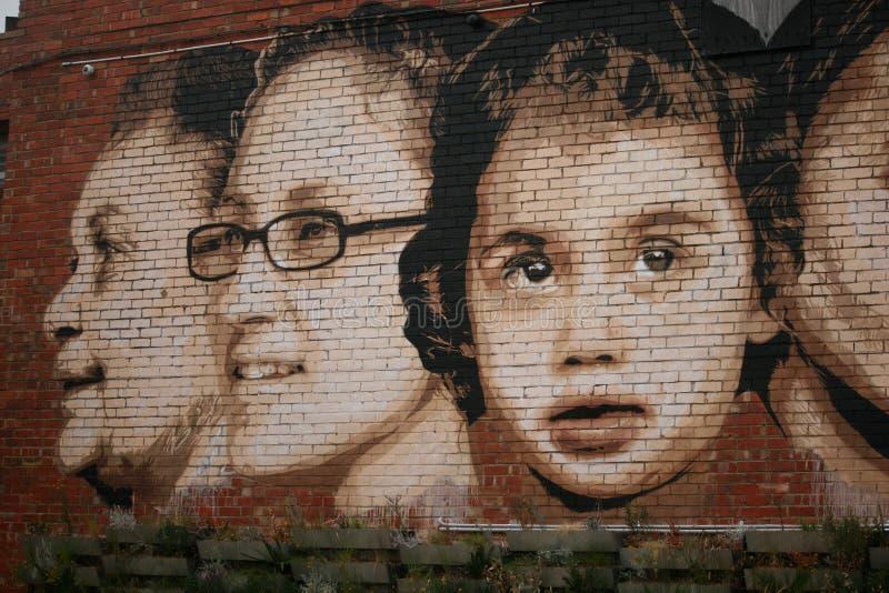 Искусство Ringwood Виктория Австралия стены стоковые фотографии rf