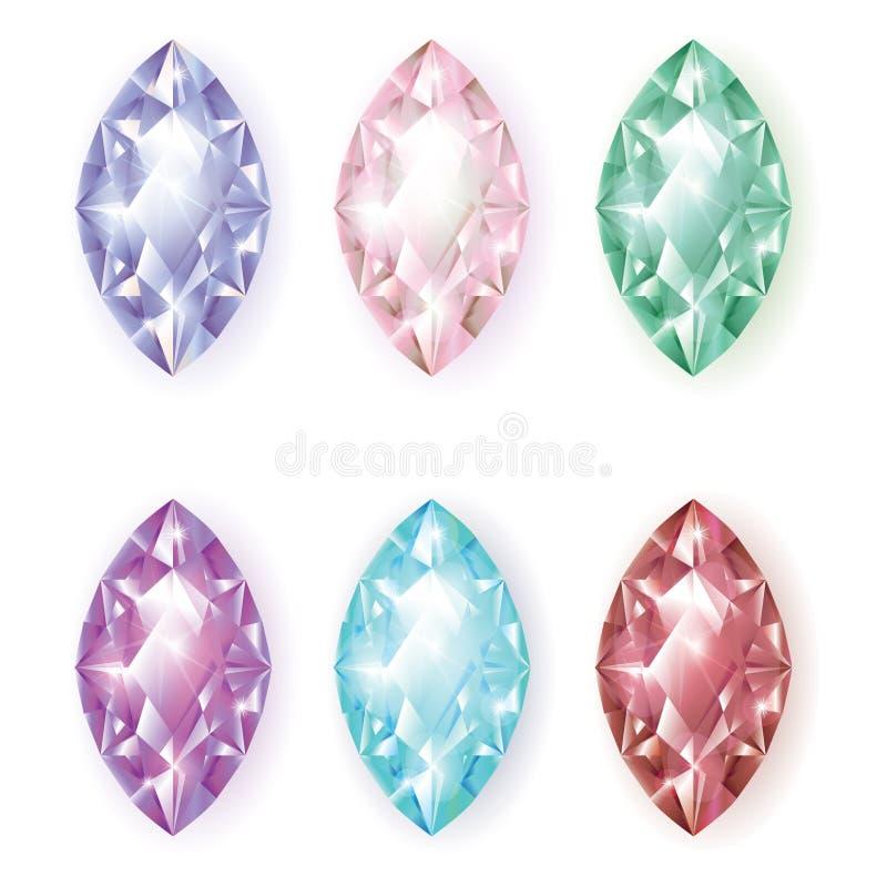 Исключение облицовывает диаманты бесплатная иллюстрация