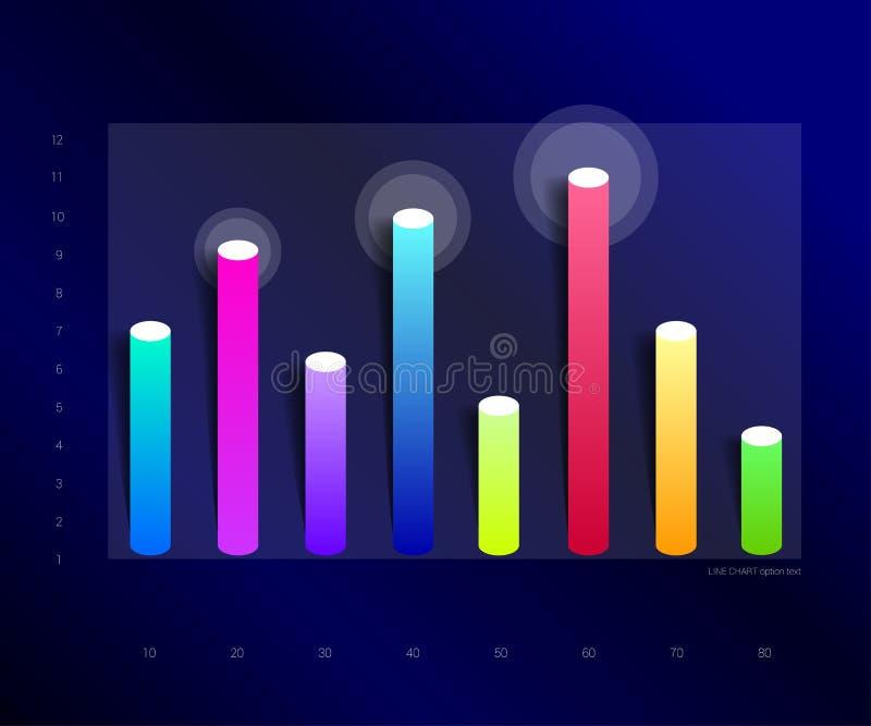 Исключительная синяя диаграмма дела, диаграмма Дизайн столбца бесплатная иллюстрация