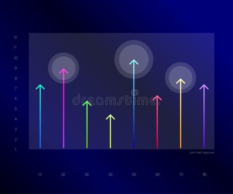 Исключительная синяя диаграмма дела, диаграмма Линия дизайн стрелок бесплатная иллюстрация